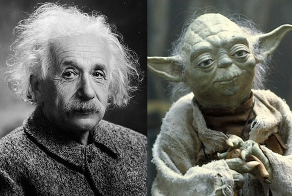 Albert Einstein and Yoda