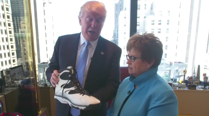 Donald Trump always keeps one of Shaquille O'Neal's shoes